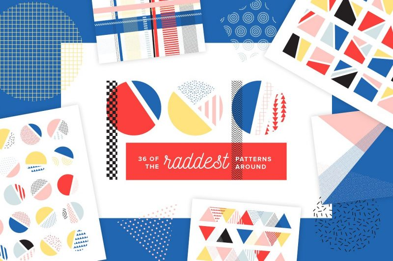 POP Pattern Bundle - Patterns Like Save POP Pattern Bundle - Patterns - 1 POP Pattern Bundle - Patterns - 2 POP Pattern Bundle - Patterns - 3 POP Pattern Bundle - Patterns - 4 POP Pattern Bundle - Patterns - 5 POP Pattern Bundle - Patterns - 6 POP Pattern Bundle - Patterns - 7 I'm absolutely loving the comeback of bold, Memphis-inspired designs! This pattern pack combines the bright colors and unique shapes of the 80's and 90's with today's clean, geometric designs.