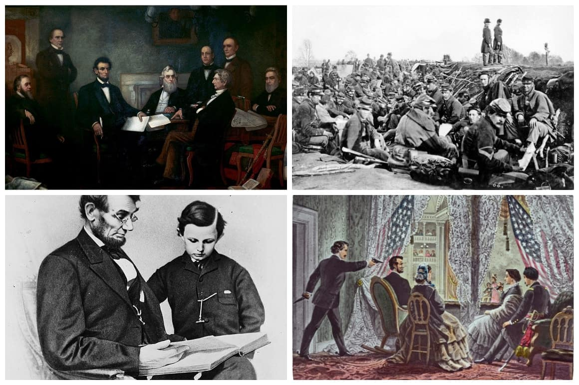 Abraham Lincoln Life Photo Collage