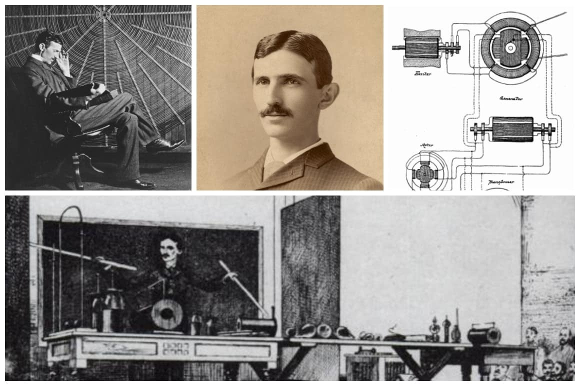 Nikola Tesla Life Collage