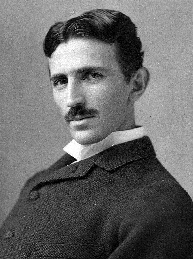 Nikola Tesla by Napoleon Sarony (age 34)