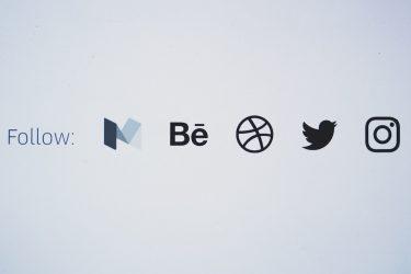 Social Media Icons on a Blog