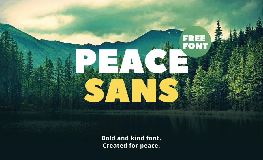 Free Peace Sans font