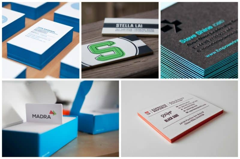 Thick and Letterpressed Business Card Design ideas