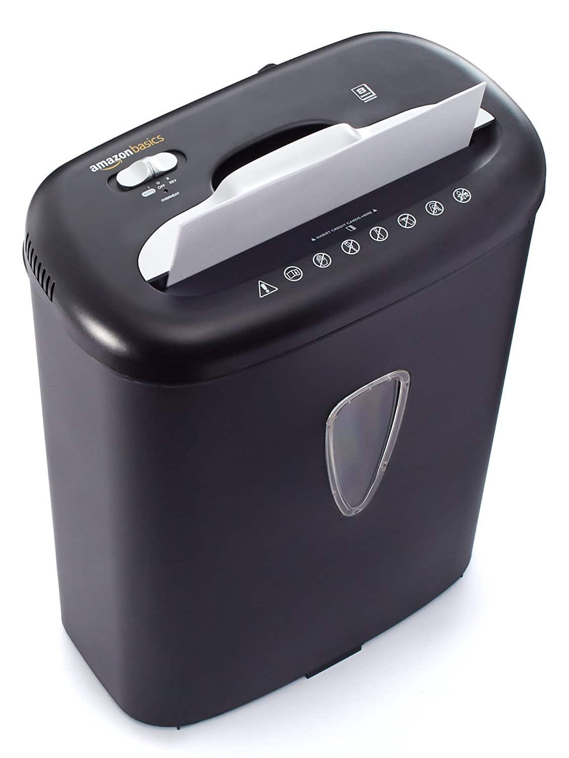 AmazonBasics 8-Sheet Cross-Cut Paper and Credit Card Shredder