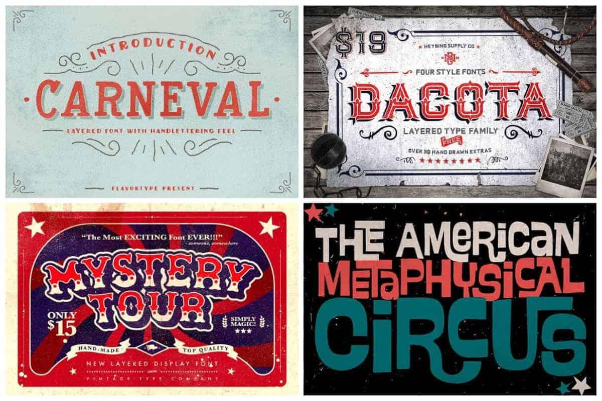 Circus-Typefaces