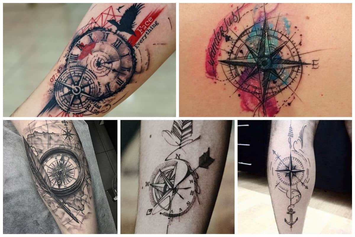 dcf82d9f53ac8 20 Compass Tattoo Ideas For Men And Women | Inspirationfeed