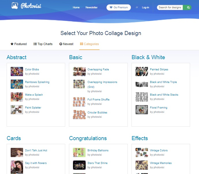 Create Photo Collages with Photovisi