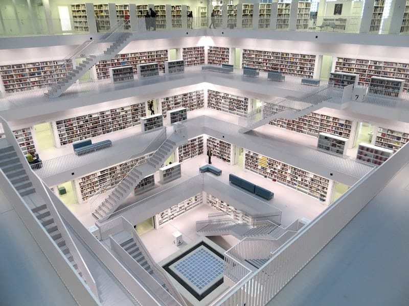 Stunning White Library in China