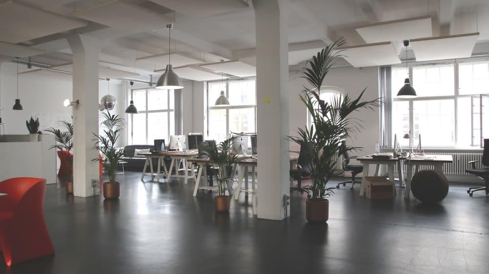 modern workspace of a startup