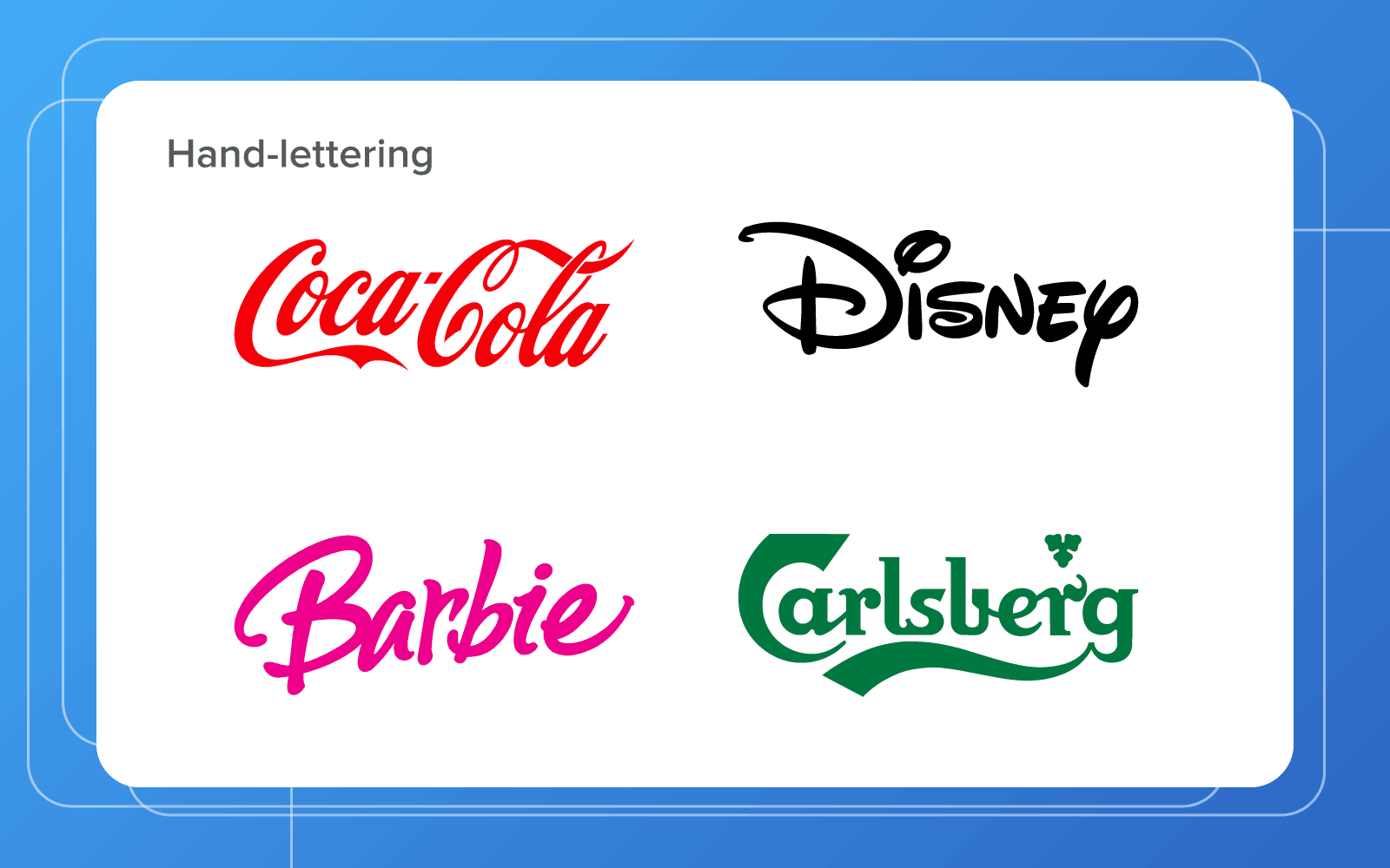 famous hand-lettered logo designs