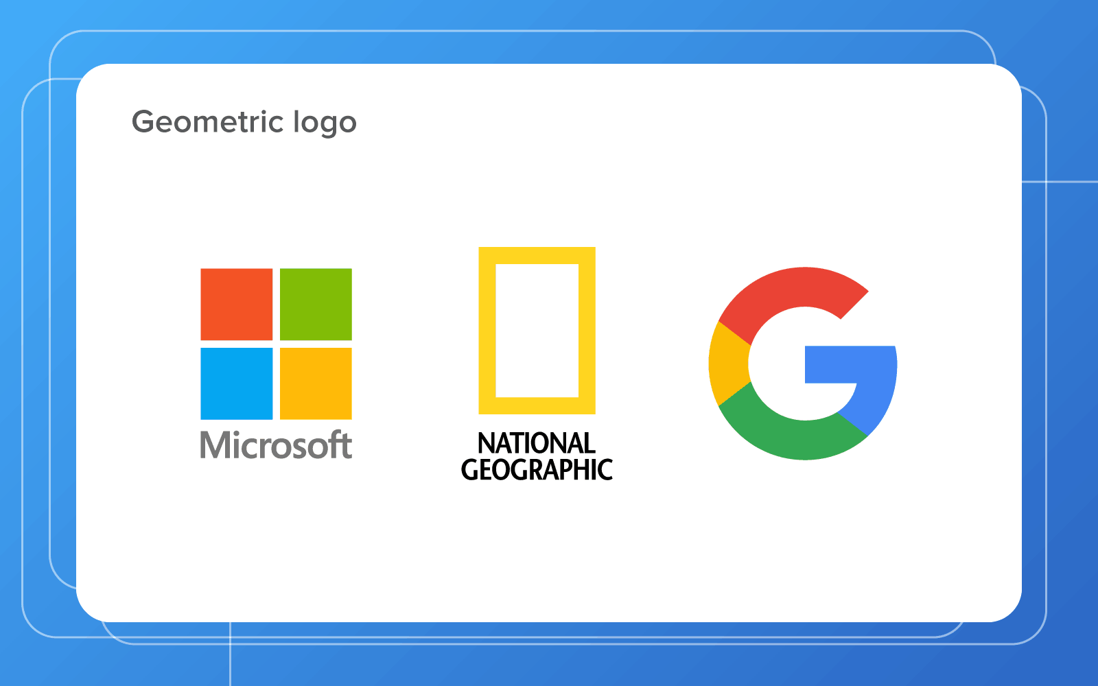 geometrical logo designs