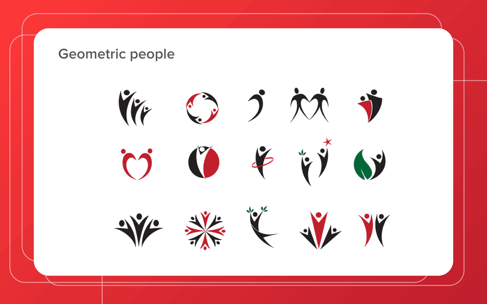 geometric people logo designs
