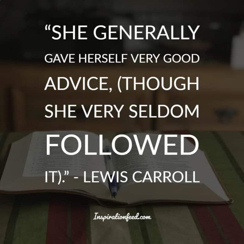 Lewis Caroll Quotes