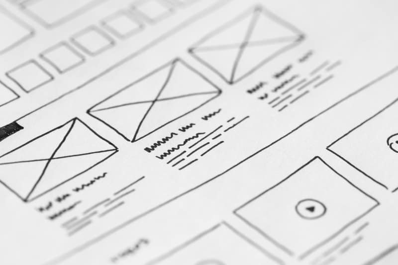 User Interface Sketched on notebook paper