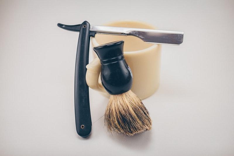 Beard shaver and brush