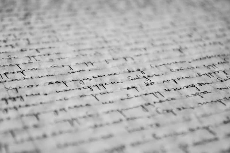 hand written essay paper