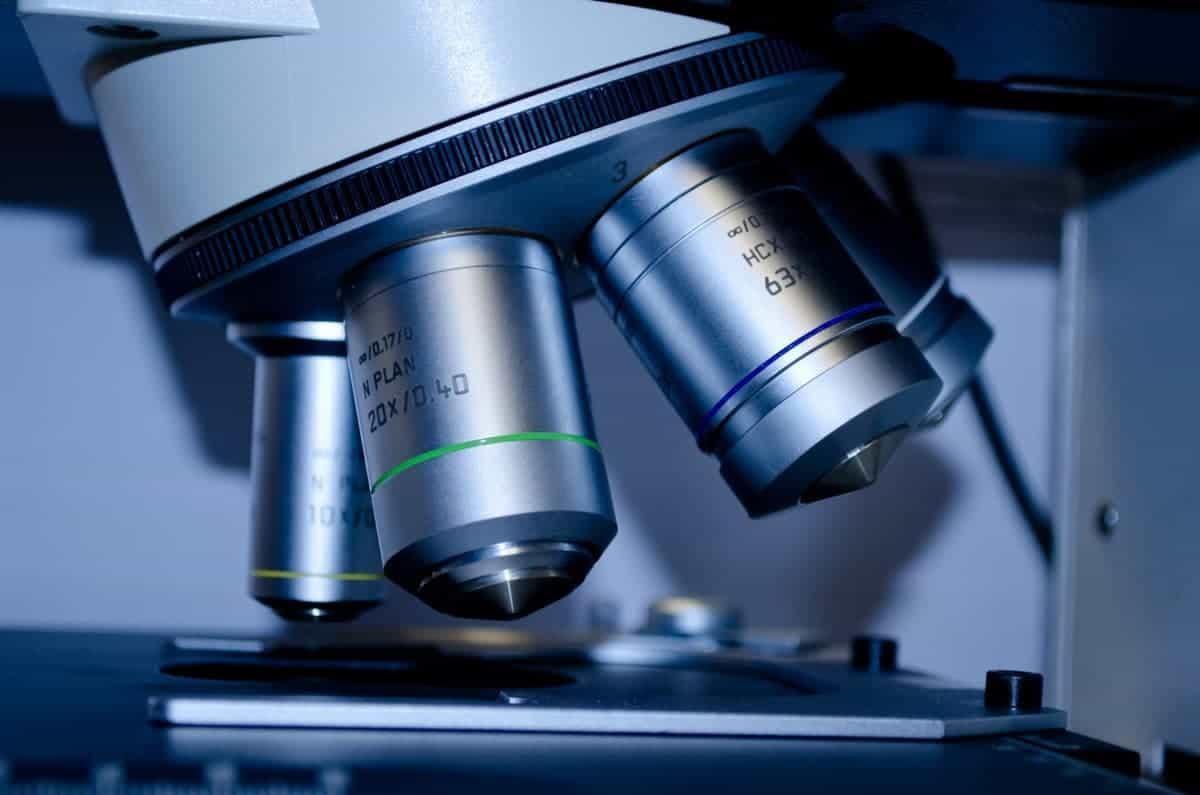 DNA testing inside a laboratory
