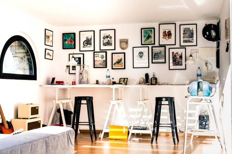 decorated workspace