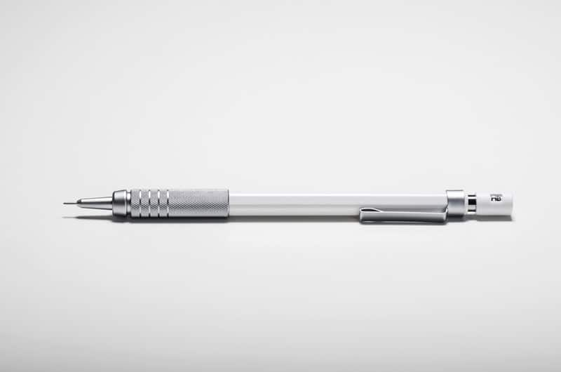gray white mechanical pencil