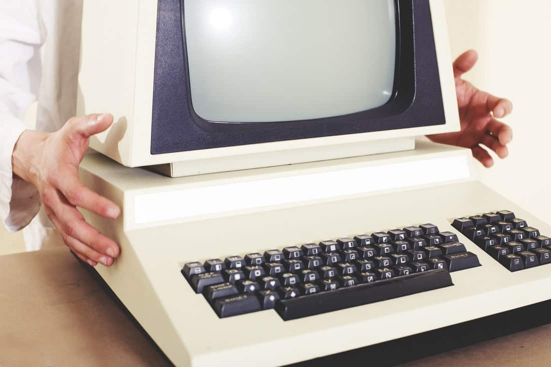 vintage computer desktop