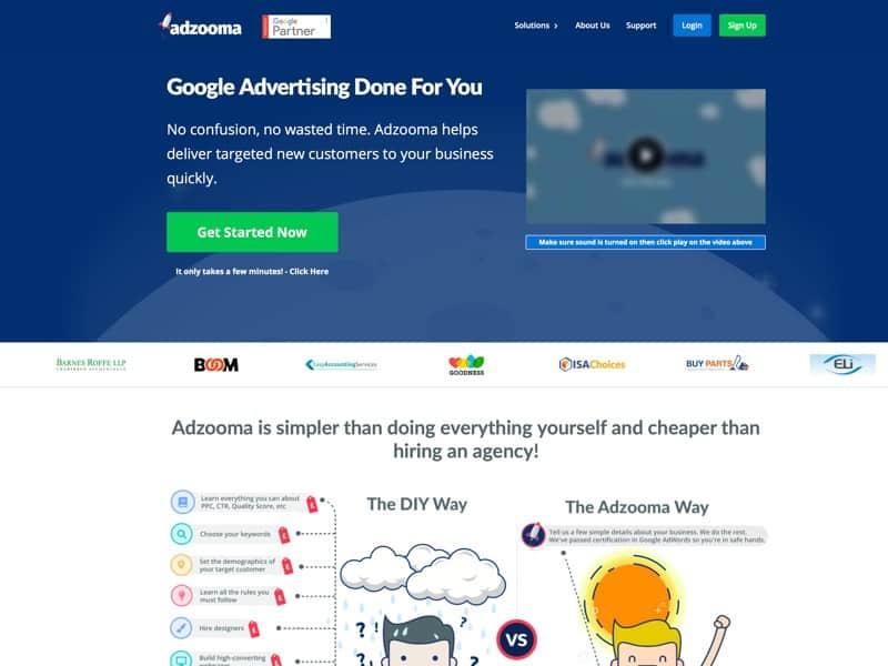 Adzooma Homepage