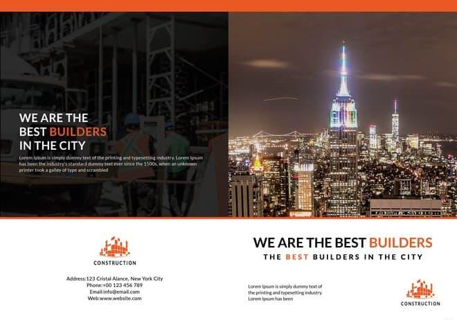 Building Construction Brochure Template