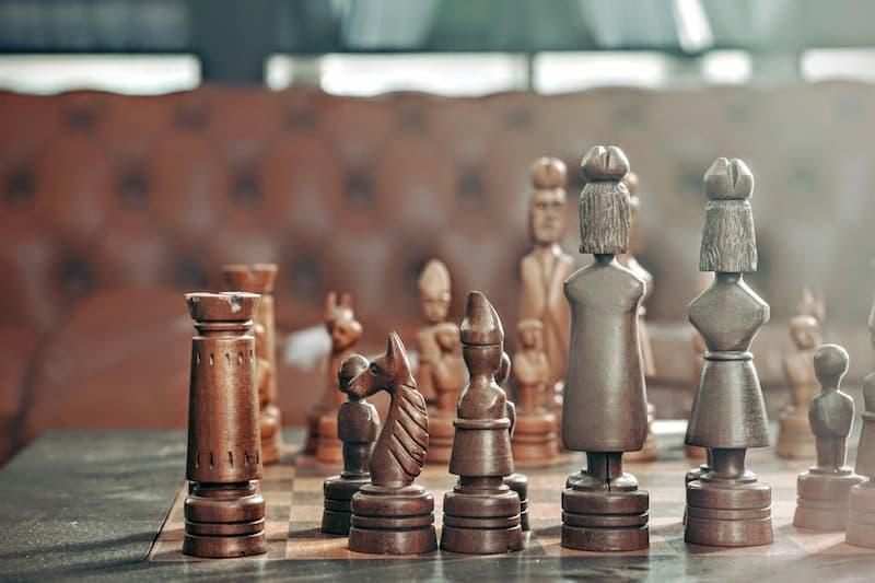 Custom made chess board from wood