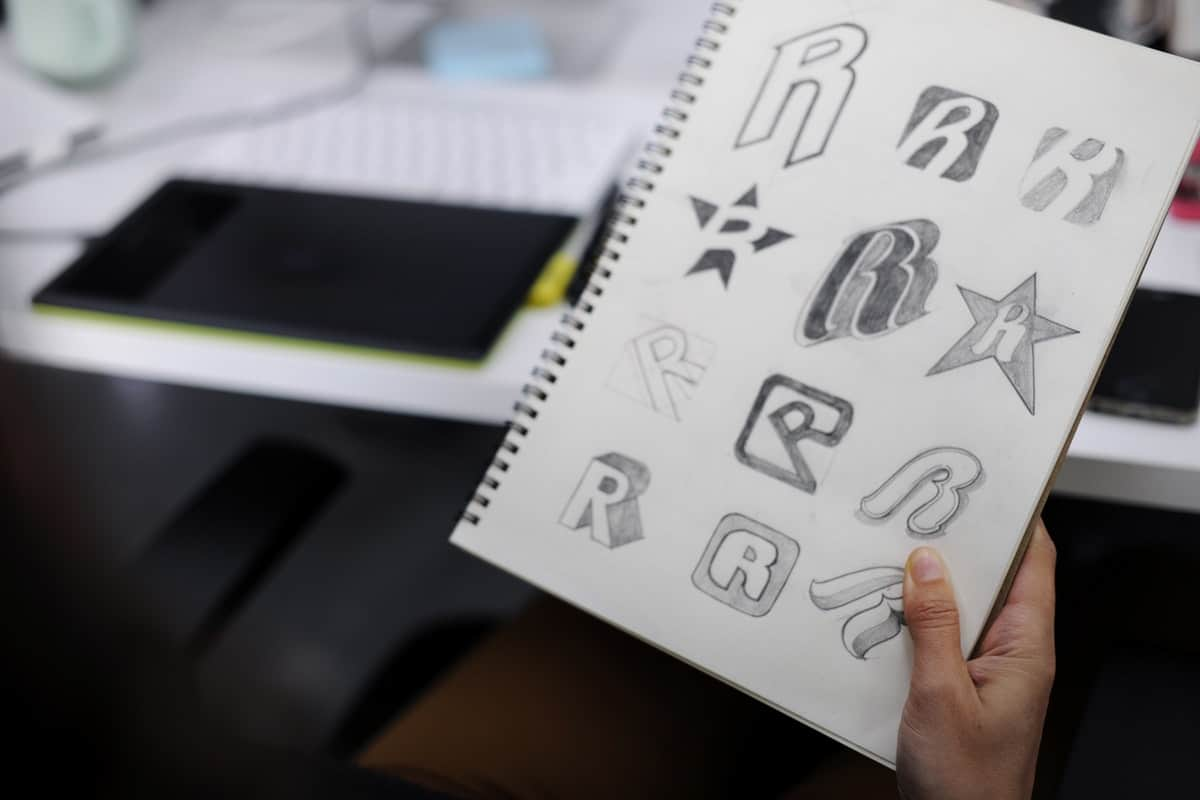 Logo design sketch ideas