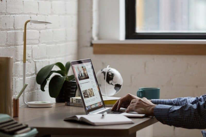 Man building a high quality website