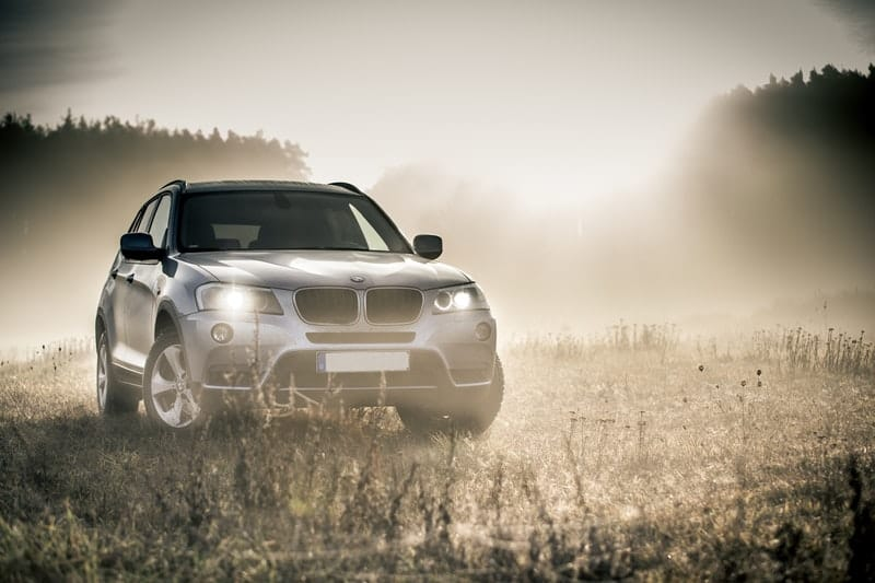 Silver BMW SUV all terrain