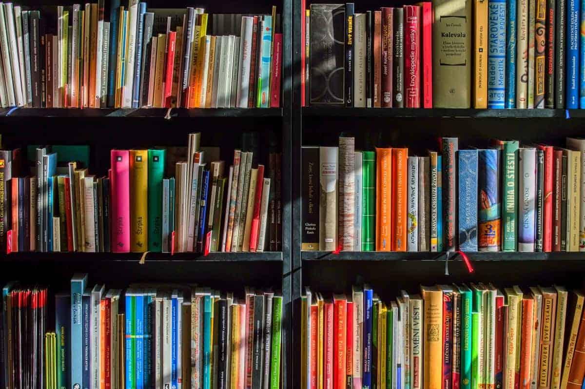 hardbooks inside a bookstore