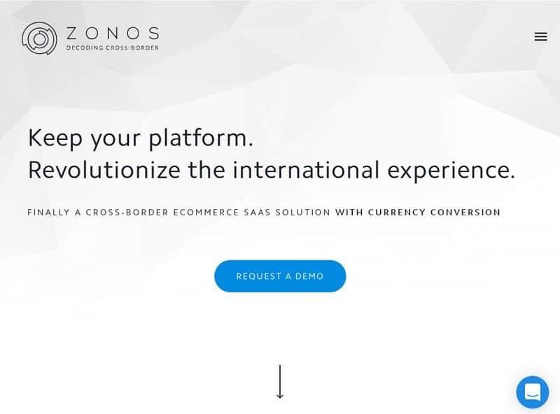 Zonos Website Screenshot