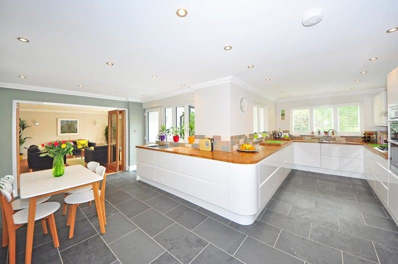 contemporary kitchen during noon