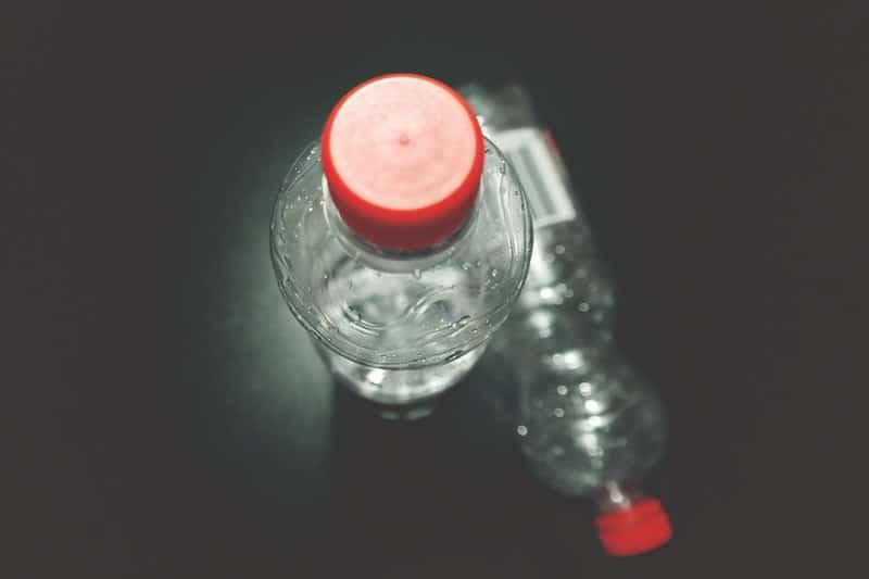 plastic watter bottle close up