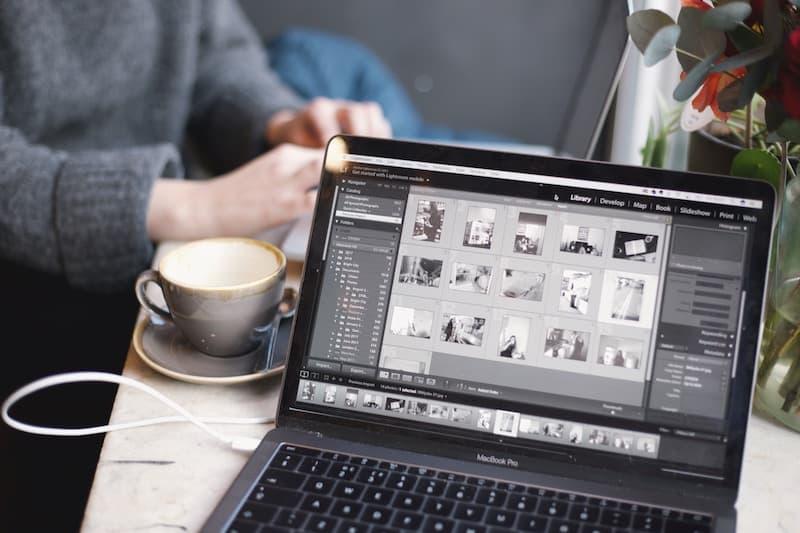 Adobe Lightroom on a Macbook Pro