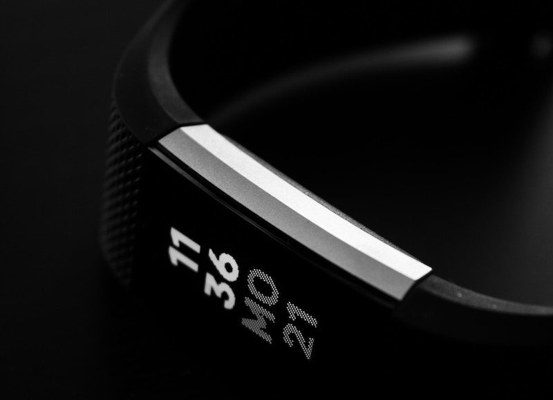 Black and White Sports Watch
