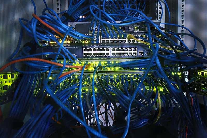 Hundreds of Ethernet cords