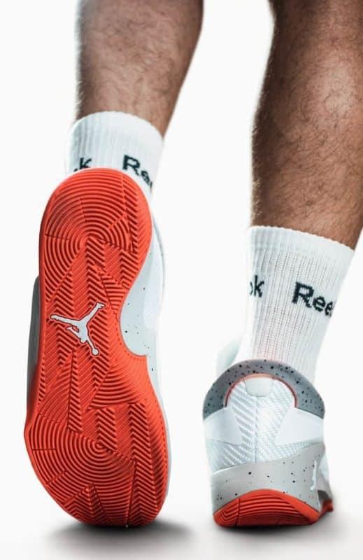 Man Wearing Fresh Jordan Sneakers