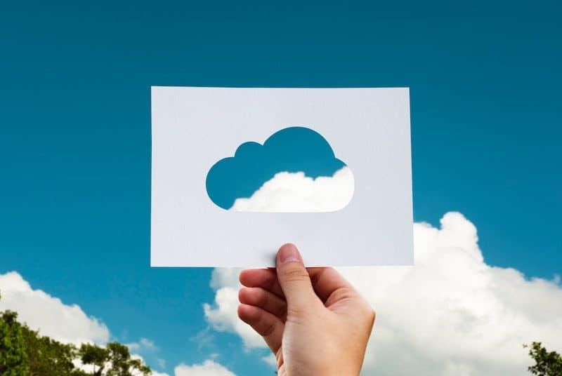 Paper Cutout of a Cloud