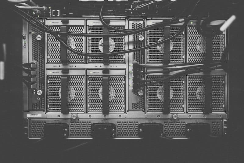 Server Room in Black and White