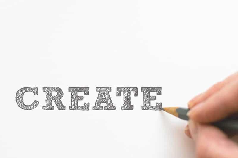 create written in pencil