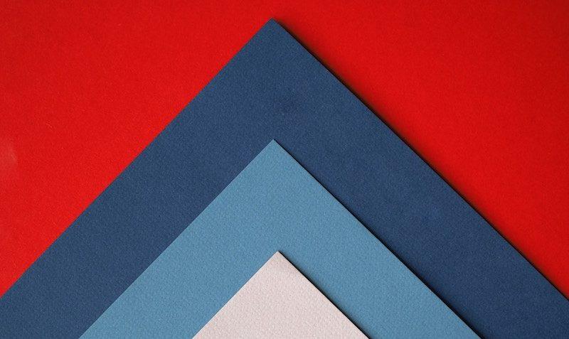 Minimal Paper Triangles