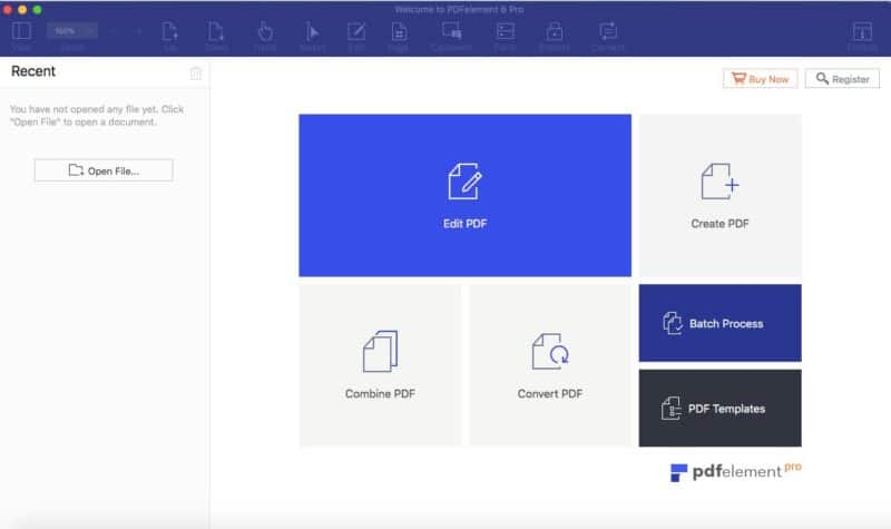 PDF Elements 6 Start Page
