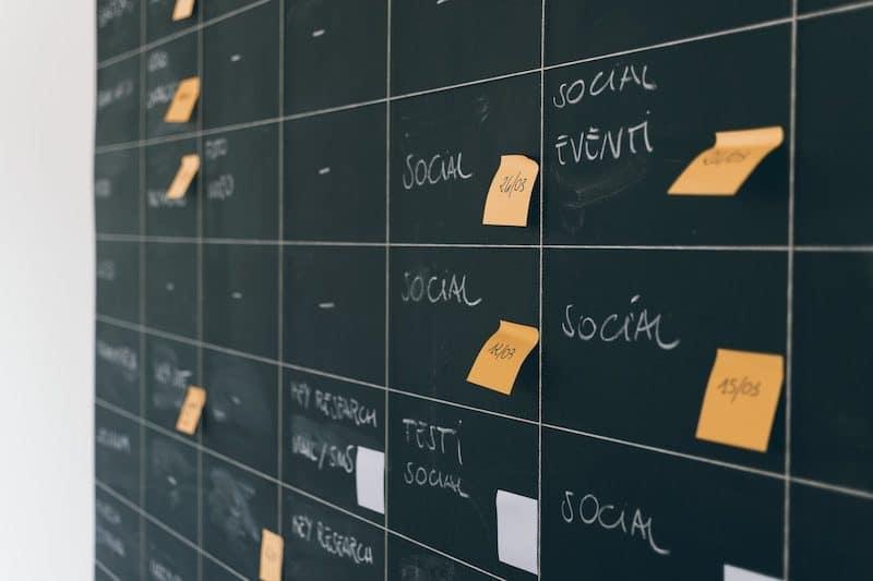Social Media Board Schedule