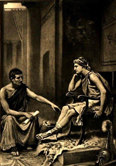 Aristotle Tutoring Alexander, by Jean Leon Gerome Ferris