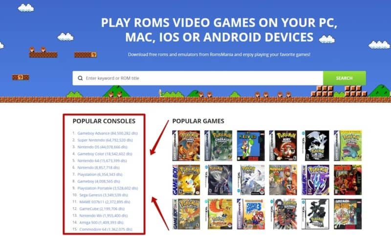 Play roms video games on your pc