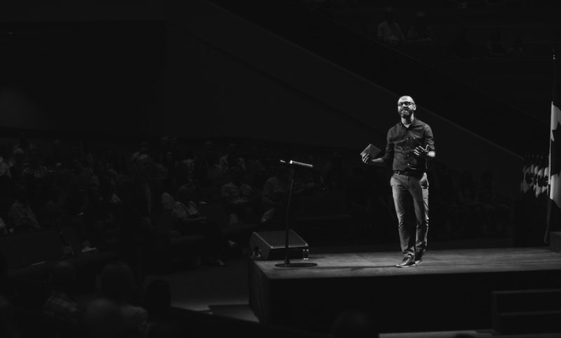 Ted Talk in Black and White