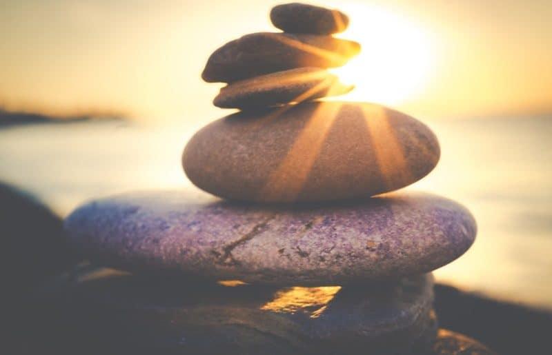 balanced rock formation
