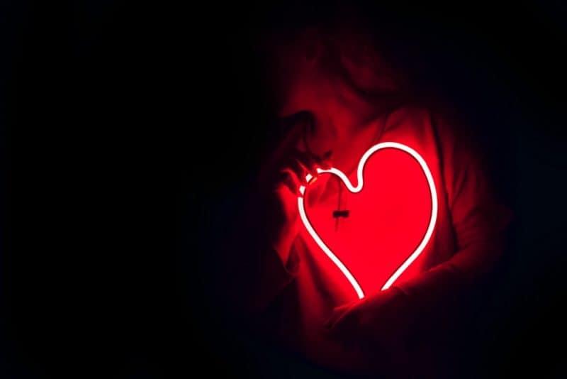 neon shaped heart