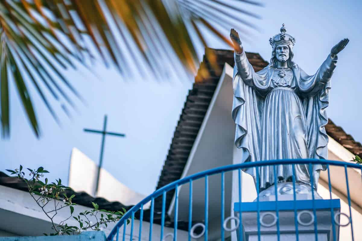 Statue of Jesus Christ at a Christian School in Goa